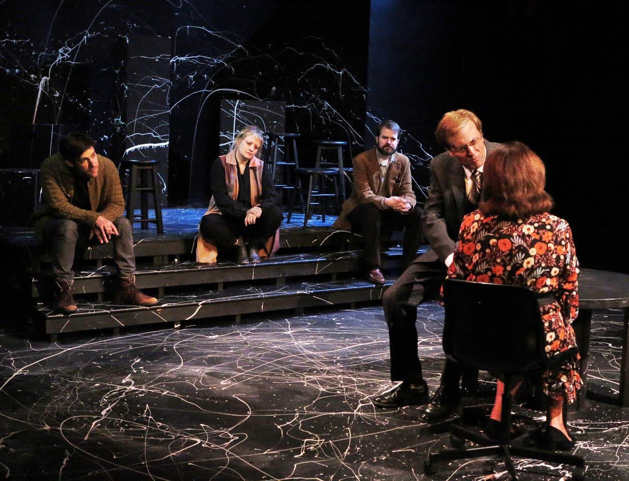 Ambjörn Elder, Lindsay Beamish, Brian McCarthy, Phil Thompson, Maureen Adduci. (Courtesy Apollinaire Theatre Company)