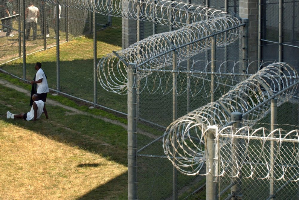 In this 2004 photo, prisoners are seen at the Souza-Baranowski Correctional Center, in Shirely, Mass. (Steven Senne/AP)