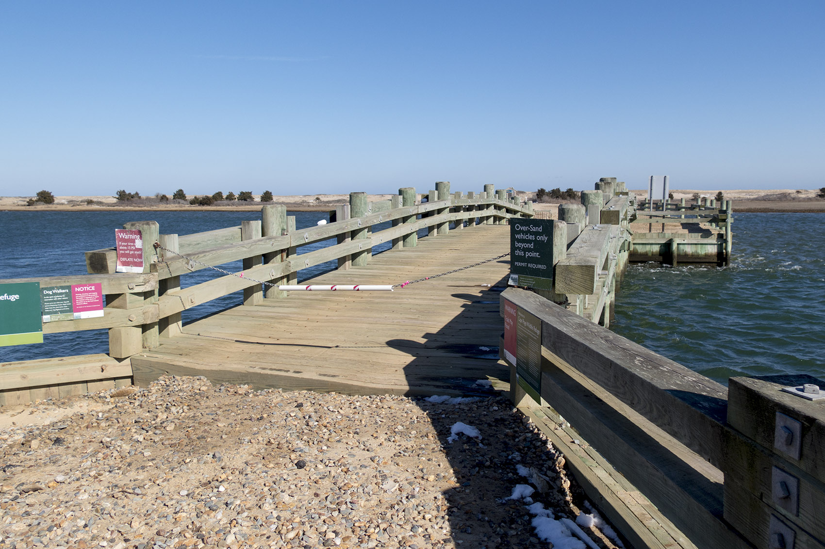 The now-famous Chappaquiddick bridge. (Andrea Shea/WBUR)