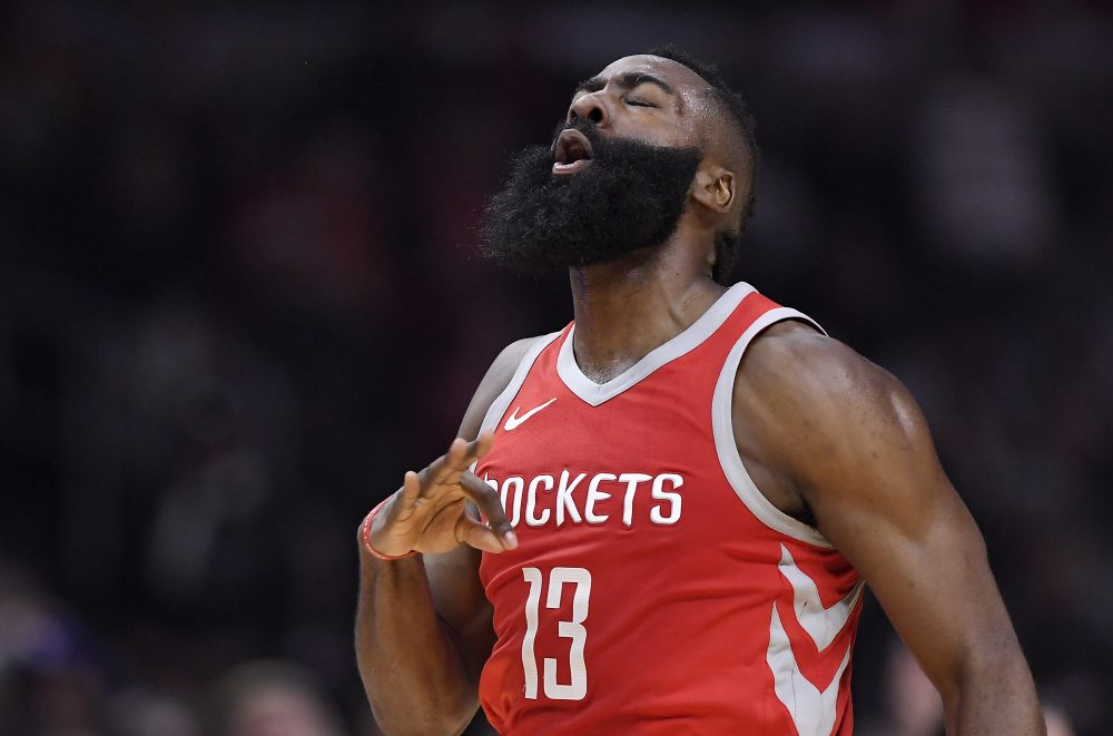 On Wednesday night, James Harden took the NBA world by storm with a vicious crossover that left Los Angeles Clippers defender Wesley Johnson on the floor. (Mark J. Terrill/AP)
