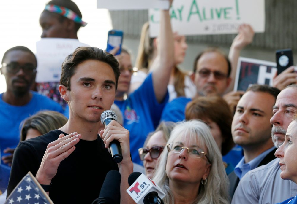 Image result for Photos of David Hogg protesting guns