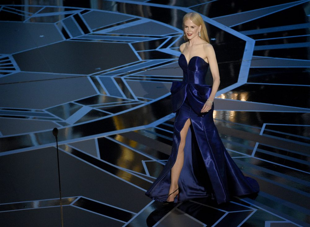 Nicole Kidman presents at the 90th annual Academy Awards Sunday night. (Chris Pizzello/Invision/AP)
