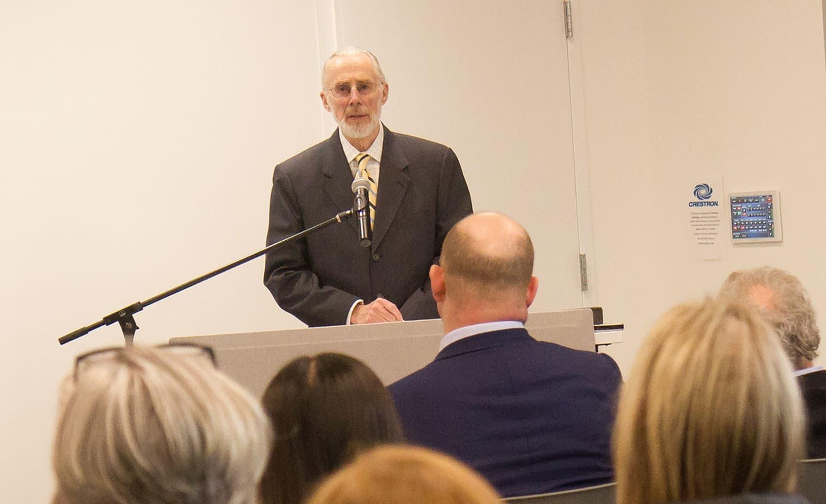 Donald Farish, president of Roger Williams University. (Courtesy of Roger Williams University)