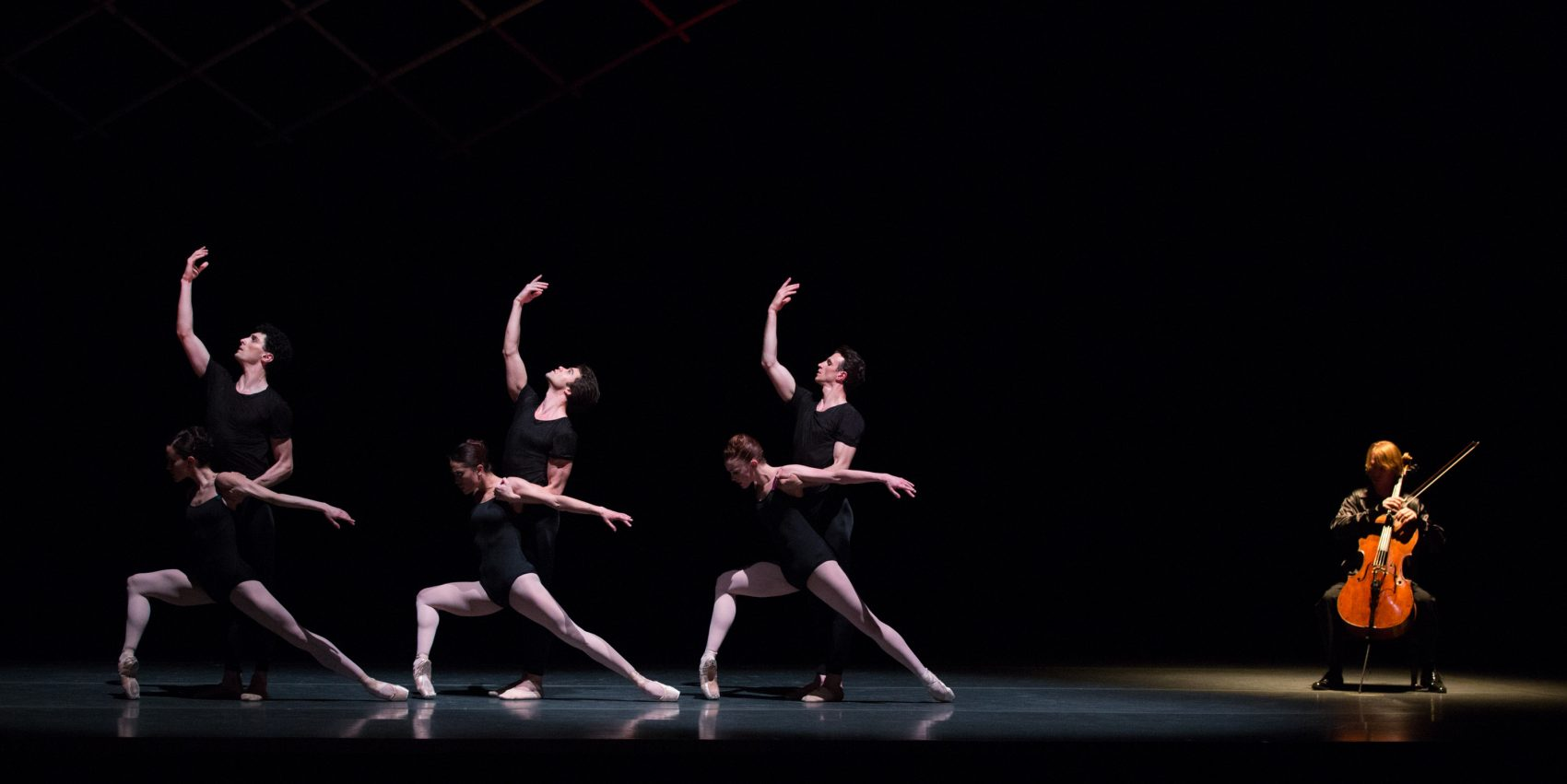 "Boston Ballet in Jorma Elo's ""Bach Cello Suites."" (Courtesy Rosalie O'Connor/Boston Ballet)"