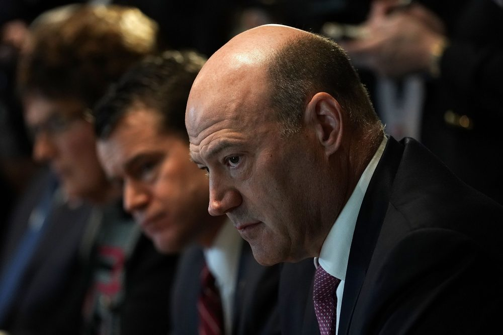 Gary Cohn listens during a meeting between President Trump and congressional members in the Cabinet Room of the White House on Feb. 13, 2018 in Washington, D.C. (Alex Wong/Getty Images)