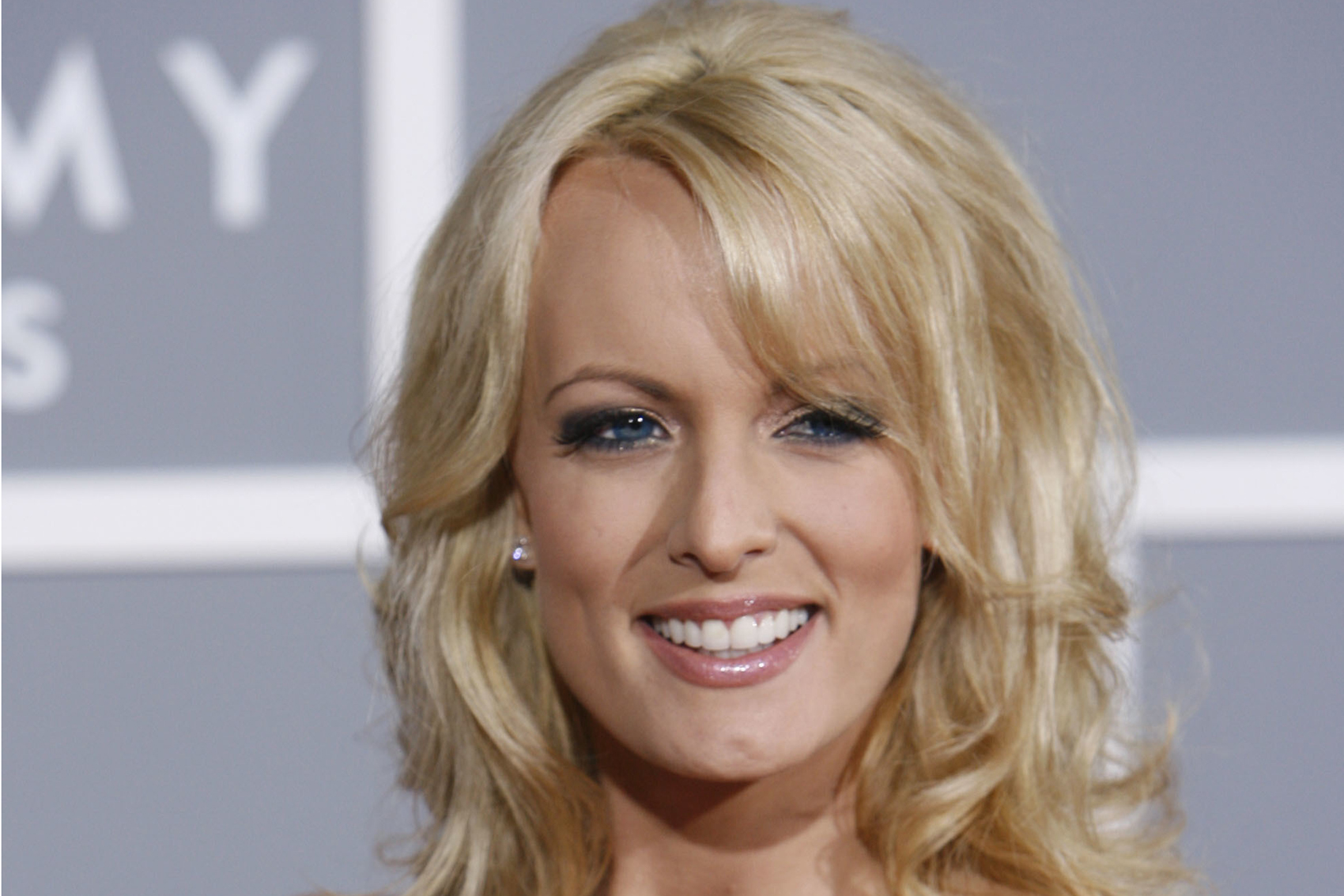 In this Feb. 11, 2007 file photo, Stormy Daniels arrives for the 49th Annual Grammy Awards in Los Angeles. (Matt Sayles/AP)