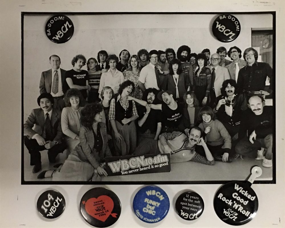 The WBCN crew. (Courtesy David Bieber Archives)