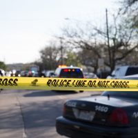 The scene near Galindo Street in Austin, Texas, on March 12, 2018, where a woman in her 70s was injured in an explosion. The incident was the second reported explosion on Monday and the third in two weeks. (Suzanne Cordeiro/AFP/Getty Images)
