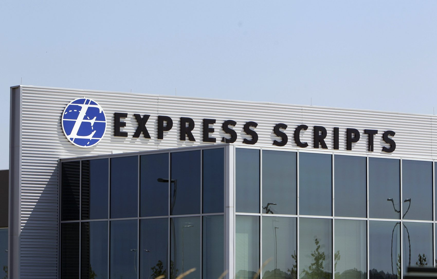 This July 21, 2011, file photo shows a building on the Express Scripts campus in Berkeley, Mo. (Jeff Roberson, File/AP)