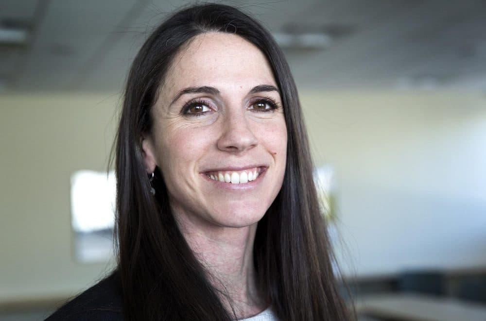 State Rep. Diana DeZoglio, D-Methuen, at WBUR (Robin Lubbock/WBUR)