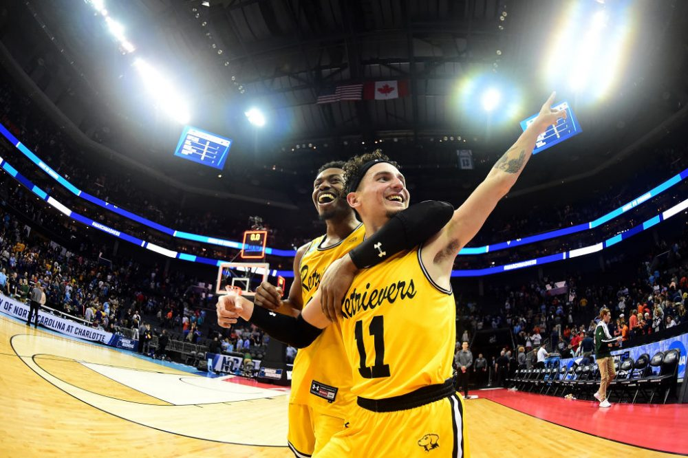 The UMBC Retrievers became the first No. 16 seed in history to upset a No. 1 seed in the men's NCAA Tournament. (Jared C. Tilton/Getty Images)