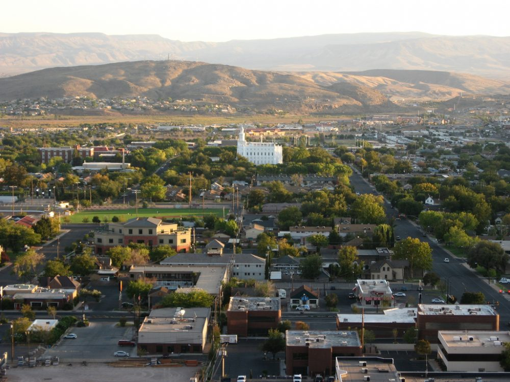 A view overlooking St. George, Utah. (Ken Lund/Flickr)