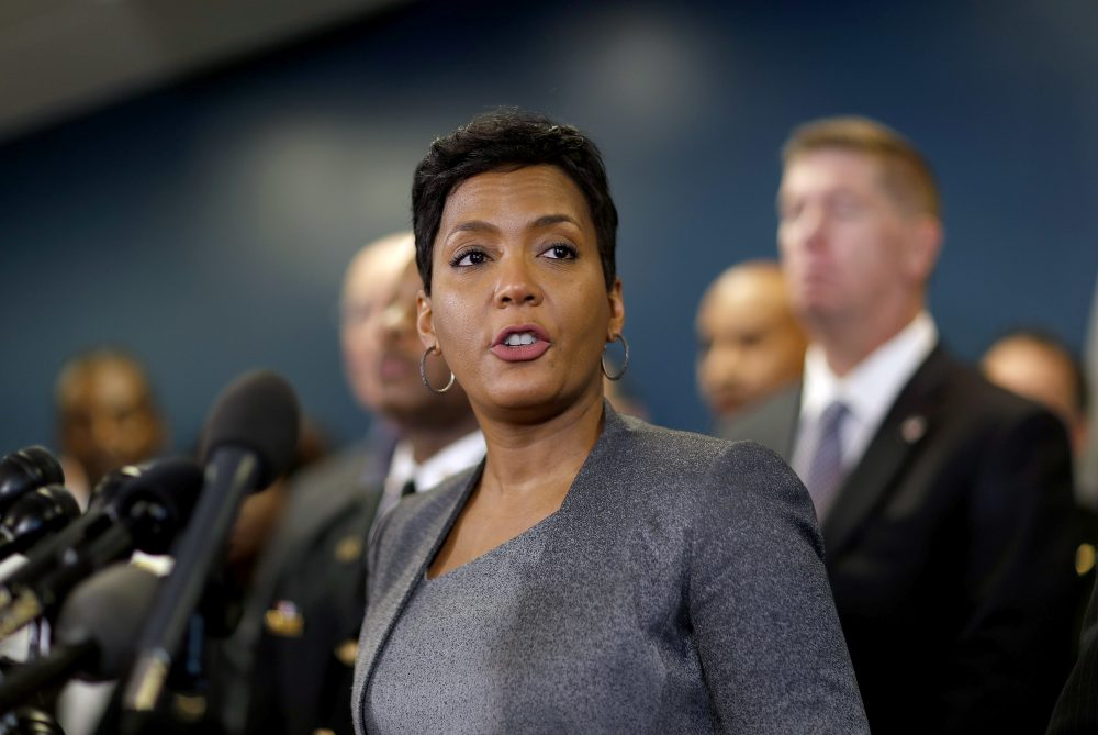 Atlanta Mayor Keisha Lance Bottoms speaks at a press conference in Atlanta, Thursday, Jan. 4, 2018. (David Goldman/AP)