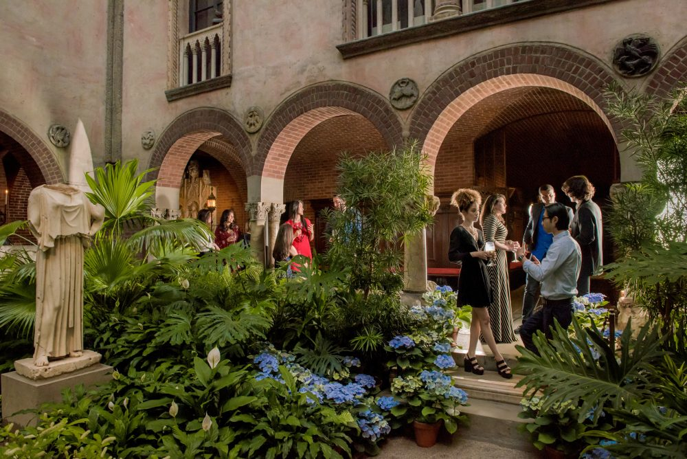The Gardner Museum courtyard during a Third Thursday party in 2016. (Courtesy Liza Voll Photography)