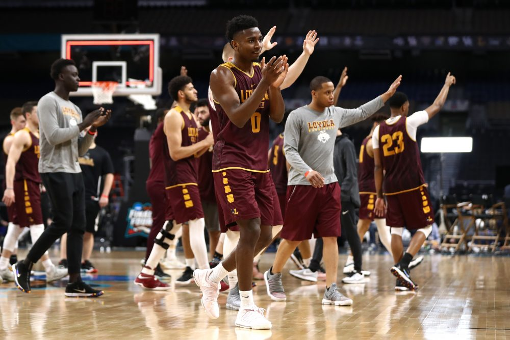 Loyola-Chicago has been on a Cinderella run to remember in March Madness, but they aren't the first 11-seed to make the Final Four. But one win could make history for the Ramblers and the sport. (Ronald Martinez/Getty Images)