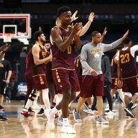 Loyola-Chicago has been on a Cinderella run to remember in March Madness, but they aren't the first 11-seed to make the Final Four. But one win could make history for the Ramblers and the sport. (Photo by Ronald Martinez/Getty Images)