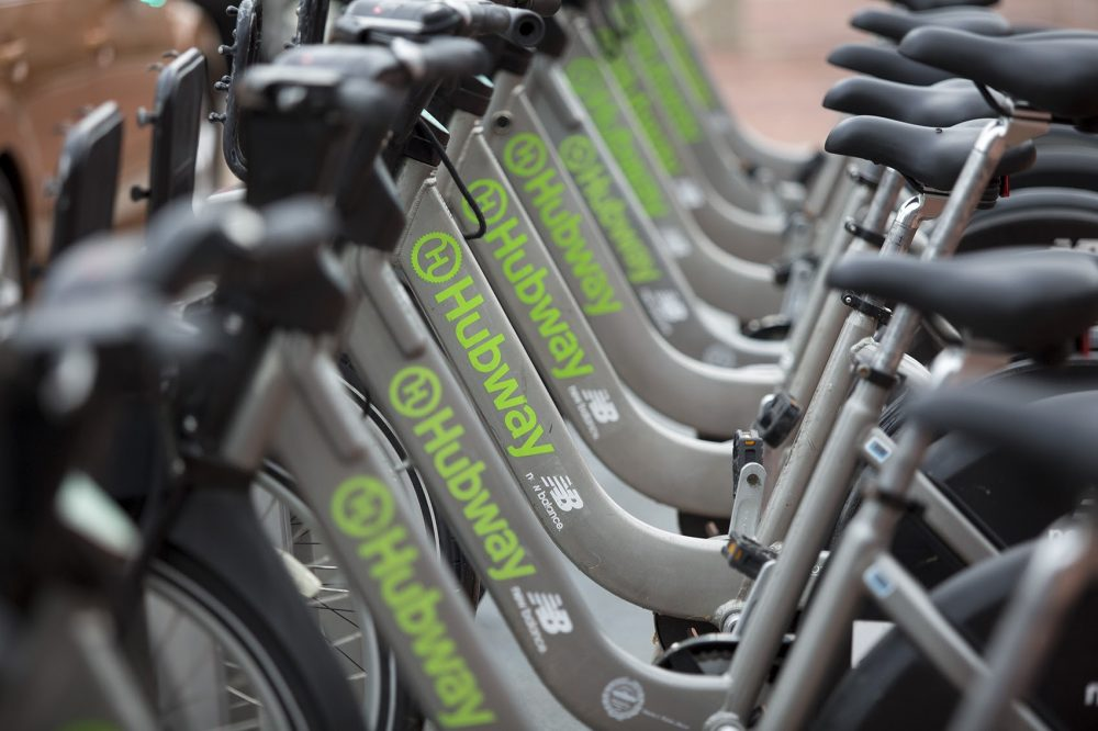 Hubway bicycles (Jesse Costa/WBUR)