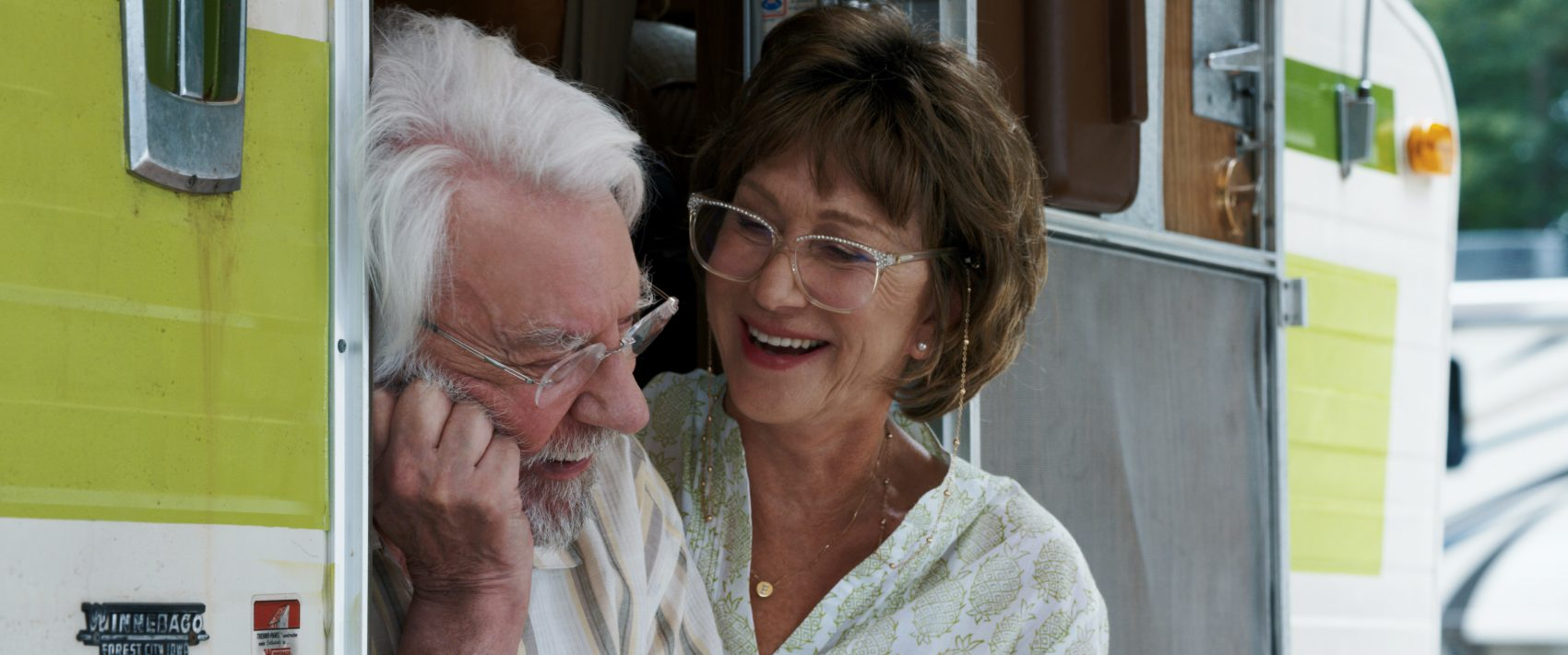 "(Left to right) Donald Sutherland as John Spencer and Helen Mirren as Ella Spencer in ""The Leisure Seeker."" (Luca Bigazzi, Courtesy of Sony Pictures Classics)"
