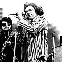 Van Morrison performing at Spring Sing on Boston Common in 1968. (Courtesy MONTUSE/Dick Lacovello)