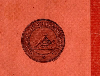 The seal of Whitesboro, New York, as depicted in 1884. (Courtesy Village of Whitesboro, New York)