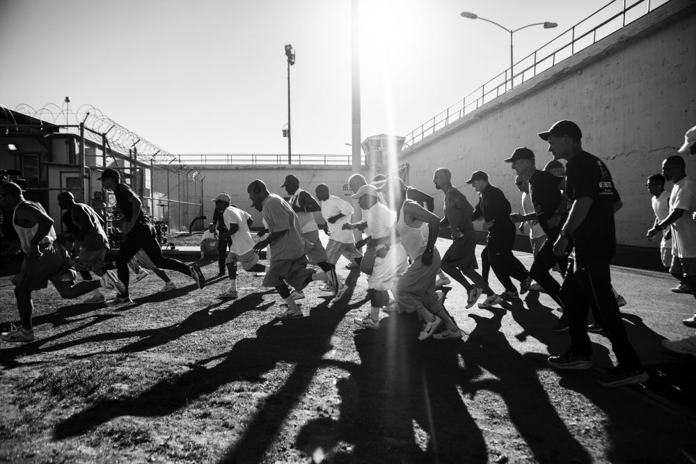 The 1,000 Mile Club at San Quentin Prison gives inmates the training to run 26.2 miles inside the prison. (Jonath Mathew, Courtesy of 26.2 to Life)