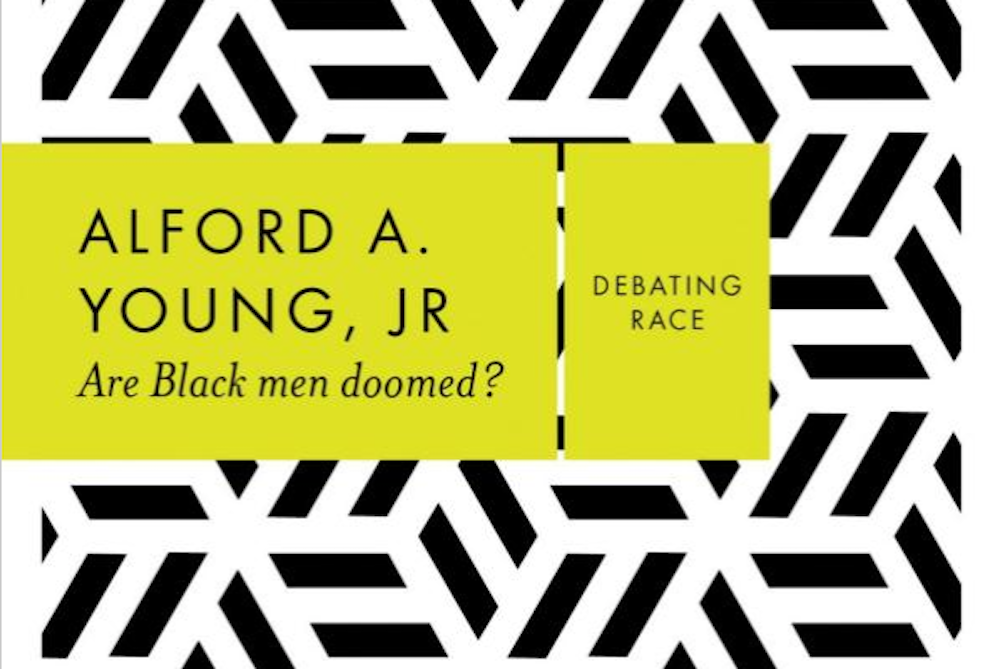 """The cover of a new book, """"Are Black Men Doomed?"""""""