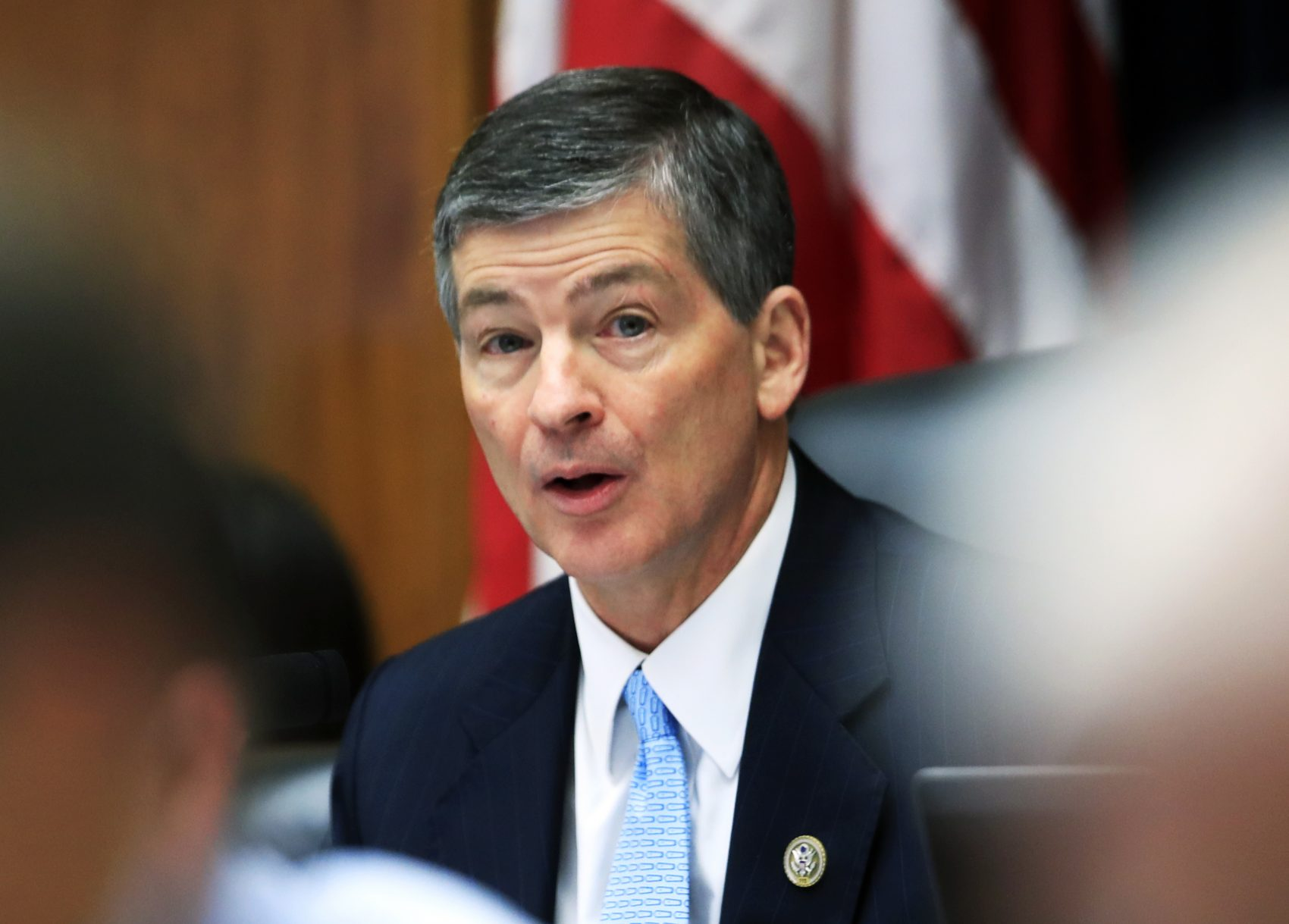 House Financial Services Committee Chairman Rep. Jeb Hensarling, R-Texas speaks on Capitol Hill in Washington, Tuesday, May 2, 2017, during the committee's hearing on overhauling the nation's financial rules.  (AP Photo/Manuel Balce Ceneta)