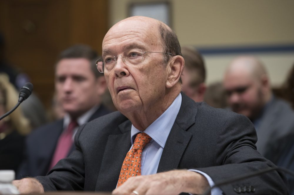 In this Oct. 12 file photo, Commerce Secretary Wilbur Ross appears before the House Committee on Oversight and Government Reform to discuss preparing for the 2020 Census. (J. Scott Applewhite/AP)