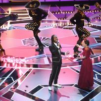 """Miguel, left, and Natalia Lafourcade perform """"Remember Me"""" from """"Coco"""" at the Oscars on Sunday, March 4, 2018, at the Dolby Theatre in Los Angeles. (Chris Pizzello/Invision/AP)"""