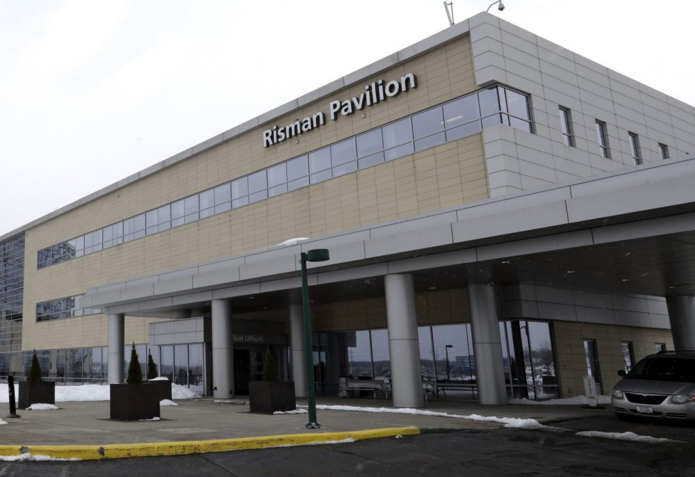 Photo of the University Hospital Ahuja Medical Center Kathy Risman Pavilion, Monday, March 12, 2018, in Beachwood, Ohio. University Hospitals of Cleveland officials say they are determined to help the patients who lost eggs and embryos, and the lawsuit will not affect an ongoing independent review into the malfunction. (AP Photo/Tony Dejak)
