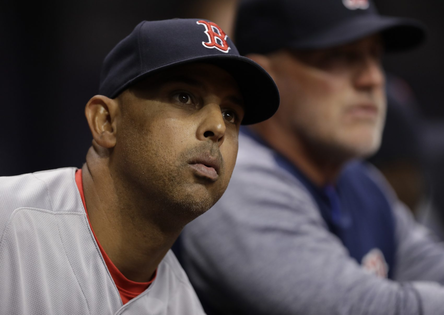 Boston Red Sox manager Alex Cora during the eighth inning of a baseball game against the Tampa Bay Rays Thursday, March 29, 2018, in St. Petersburg, Fla. (Chris O'Meara/AP)