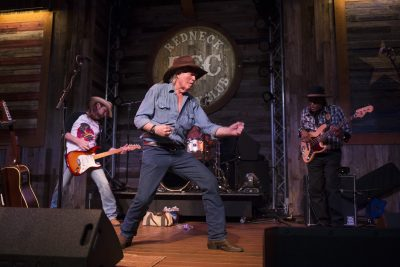 STAFFORD, TX -- Billy Joe Shaver dancing on stage during the show at the Redneck Country Club in Stafford, Texas Nov. 18, 2016. (Photo by Michael Stravato/For the Washington Post)
