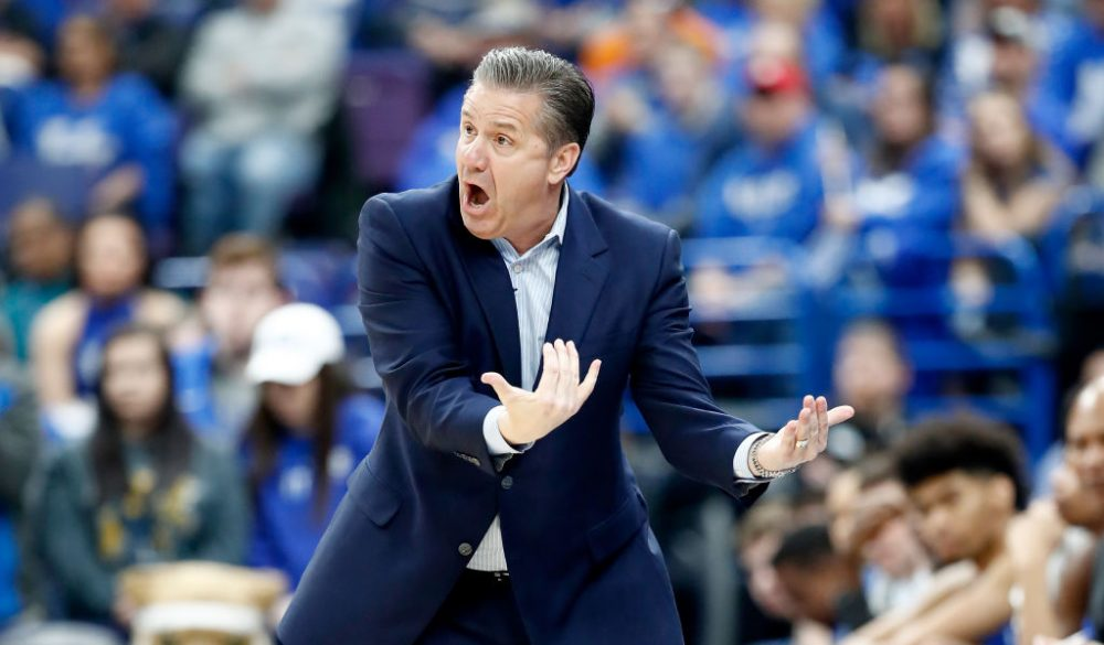 "John Calipari told his team ""not to drink the poison."" But maybe they drank the poison anyway? (Andy Lyons/Getty Images)"