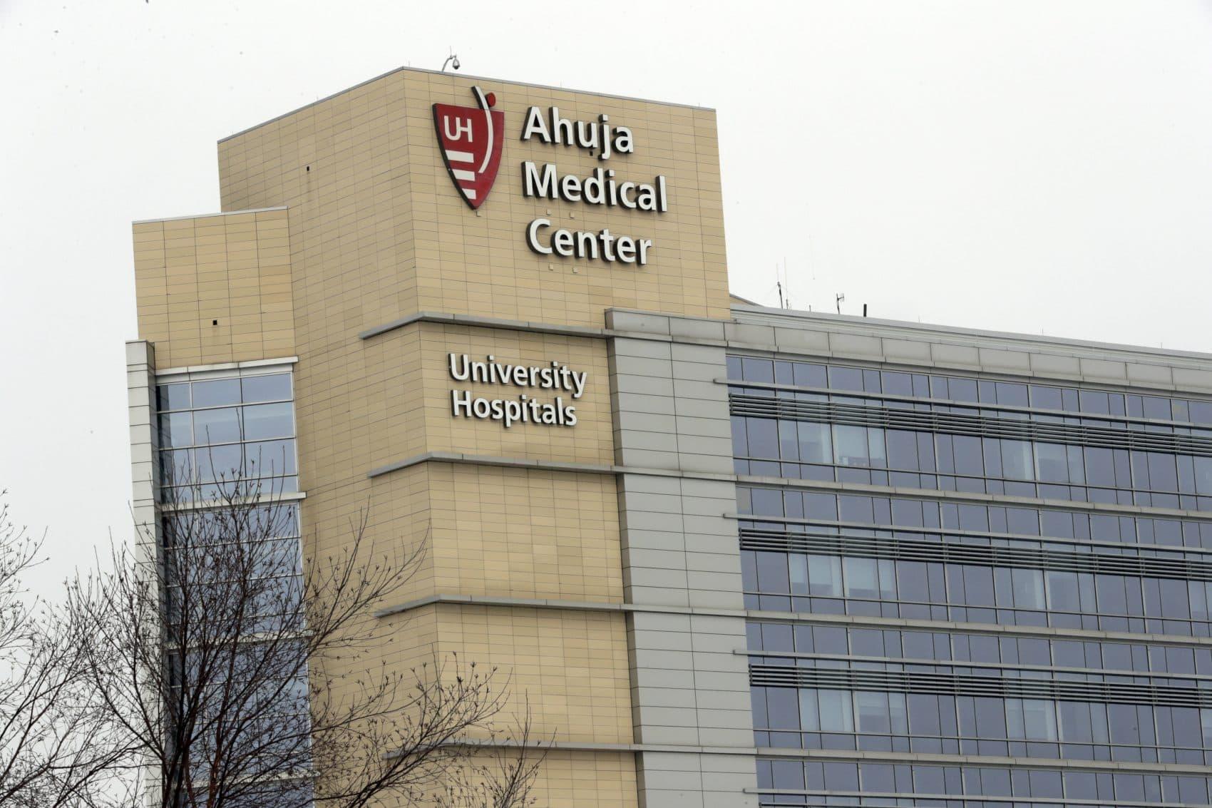 This photo shows the University Hospital Ahuja Medical Center, Monday, March 12, 2018, in Beachwood, Ohio. (AP Photo/Tony Dejak)