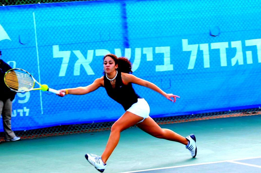 Nadine Fahoum (pictured) and her brother, Fahoum, grew up playing at the Israel Center in Haifa. At first, they were the only Arabs playing there. (Courtesy Nadine Fahoum)