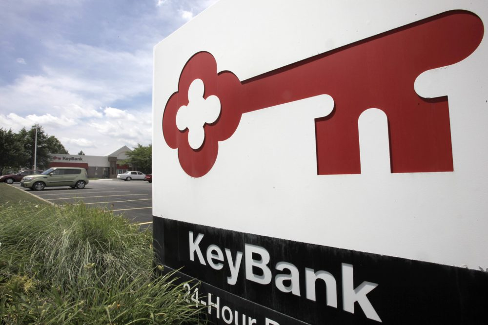 The Key Bank branch is seen in Beachwood, Ohio on Thursday, July 22, 2010. KeyCorp reported its first quarterly profit in two years Thursday, July 22, 2010, with fewer soured loans, more income from fees and better cost controls.(AP Photo/Amy Sancetta)