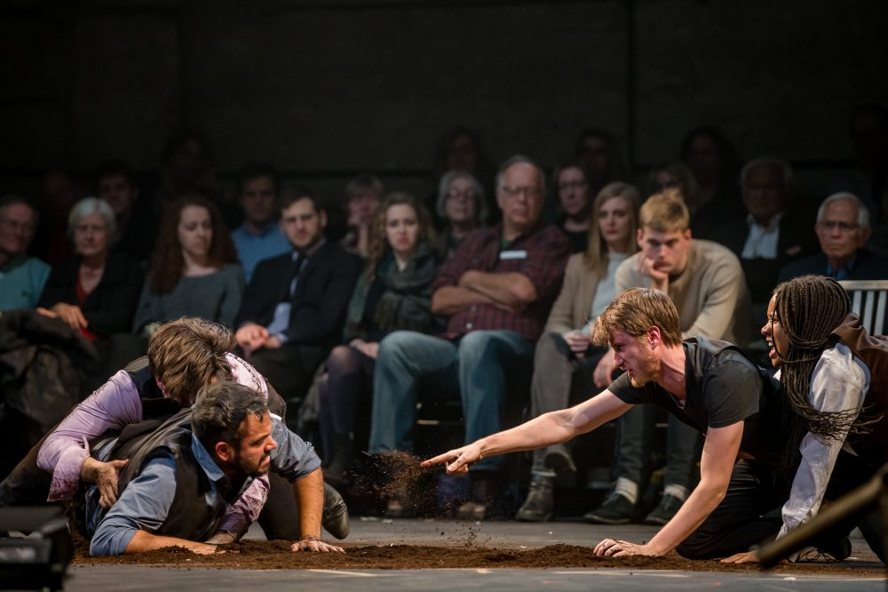 "The ensemble of Bedlam's ""Hamlet."" (Courtesy Randall Garnick Photography/ArtsEmerson)"