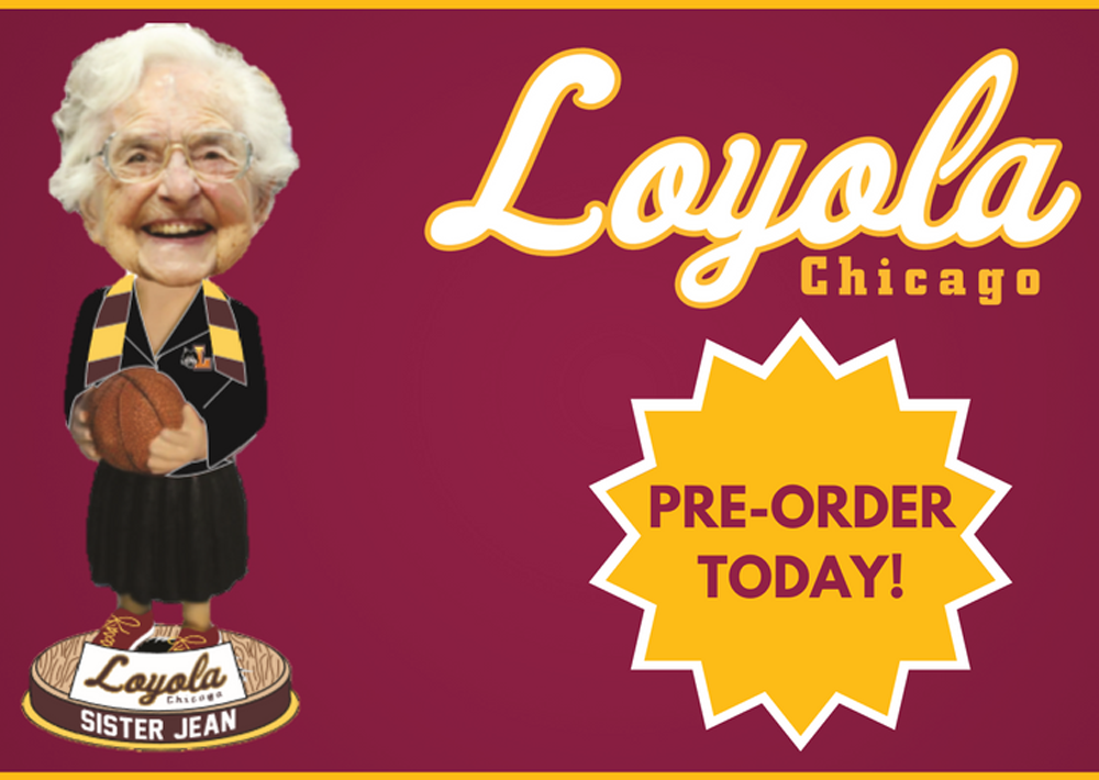 One of the stars of the men's college basketball tournament has been a woman: Sister Jean Dolores-Schmidt. (Courtesy Phil Sklar)
