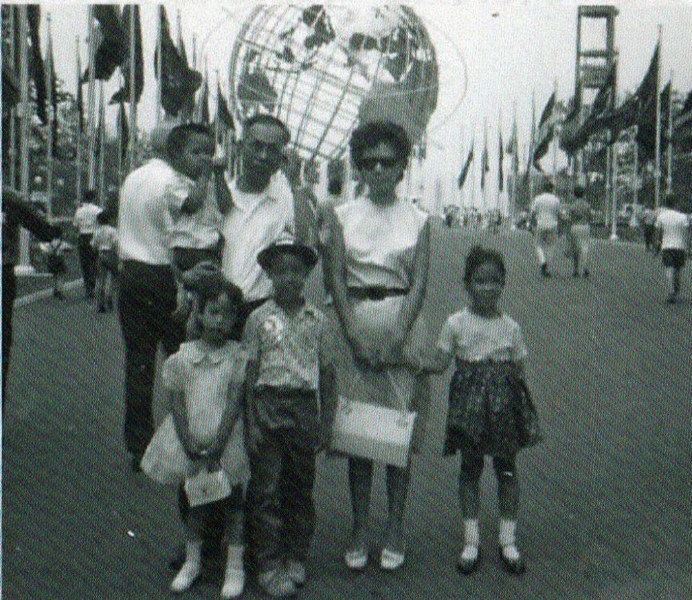 The author, pictured as a young boy, and his family visit the World's Fair in New York City in 1965. (Photo courtesy H.L.M. Lee)
