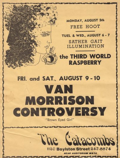 "Poster for the shows at which Van Morrison debuted the ""Astral Weeks"" material. (Courtesy David Bieber Archives)"