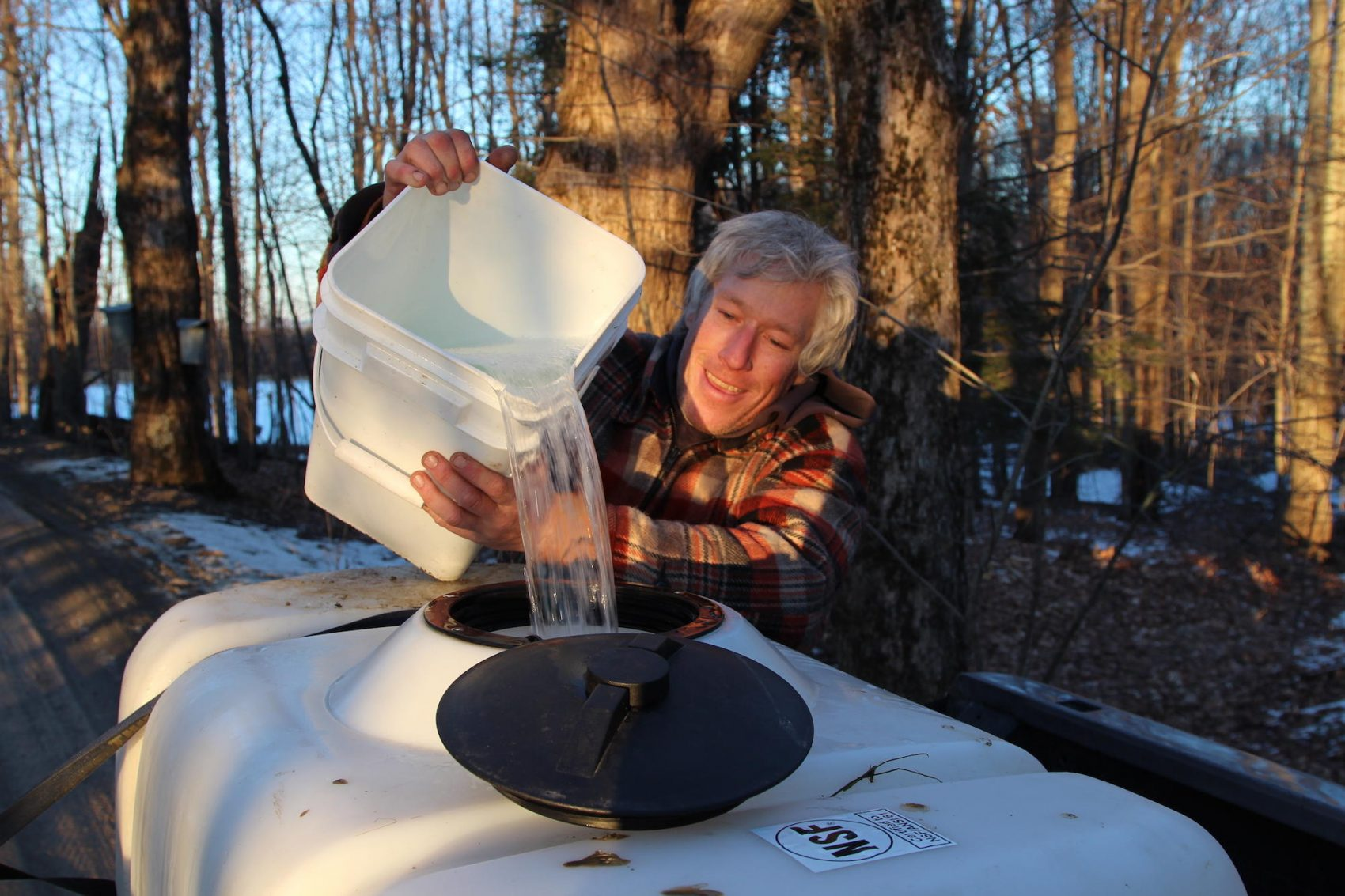 Bob Sabolefski is a small batch syrup producer in Stowe, Vt. He said he's not surprised by the arrival of out-of-state investors who hope to leverage rising syrup demand. (Lorne Matalon for VPR)