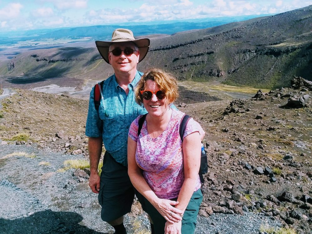 The author, pictured with her husband, during the hike in New Zealand. (Courtesy)