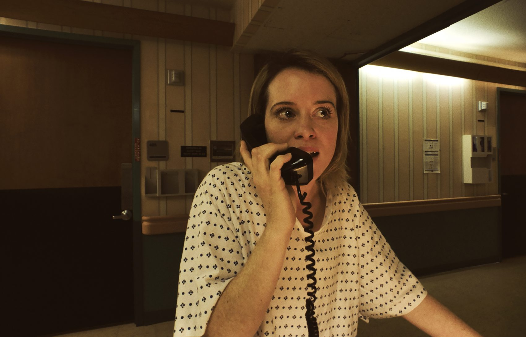 "Claire Foy as Sawyer  Valentini in Steven Soderbergh's ""Unsane.""  (Courtesy Fingerprint  Releasing/Bleecker Street)"