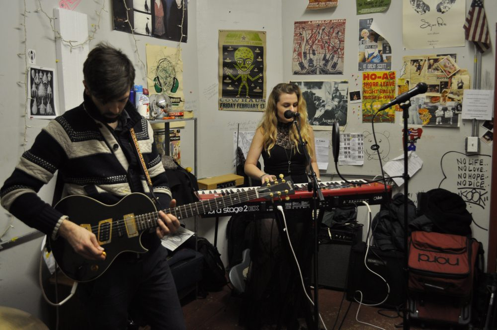 The band Miele performing in the EMF space. (Courtesy Austin Su)