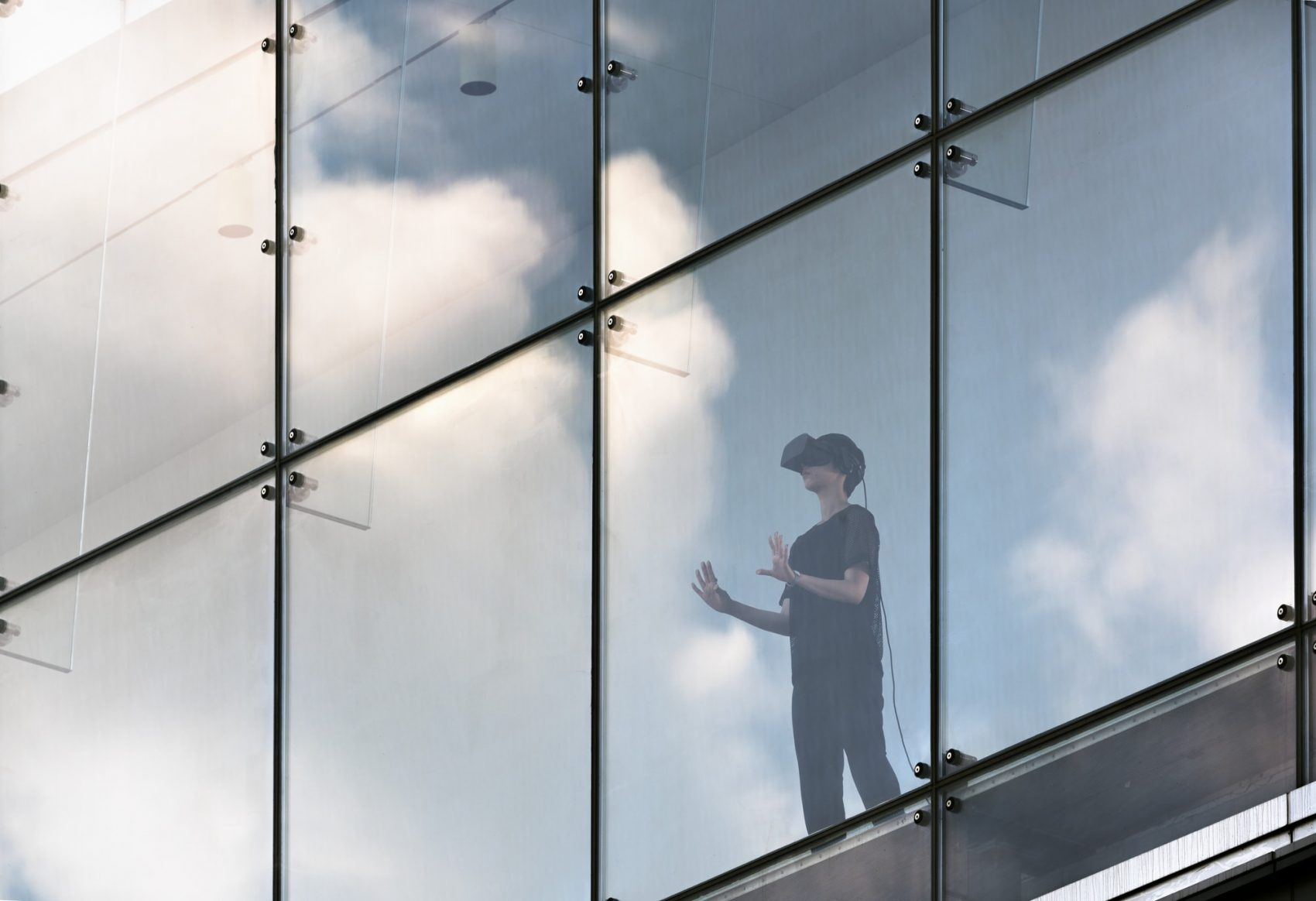 As virtual reality technology has become more accessible, more artists and art museums — like the ICA and MASS MoCA — are experimenting with this new, immersive medium. (Courtesy Matthew Monteith/ICA Boston)