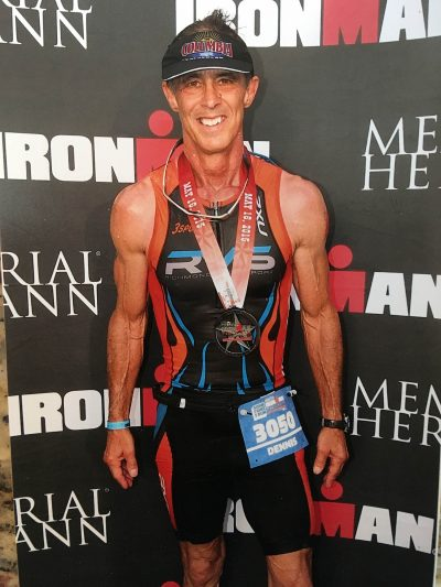 The Bullet Man during a 2015 Ironman triathlon in Texas (Courtesy of Dennis Rainear)