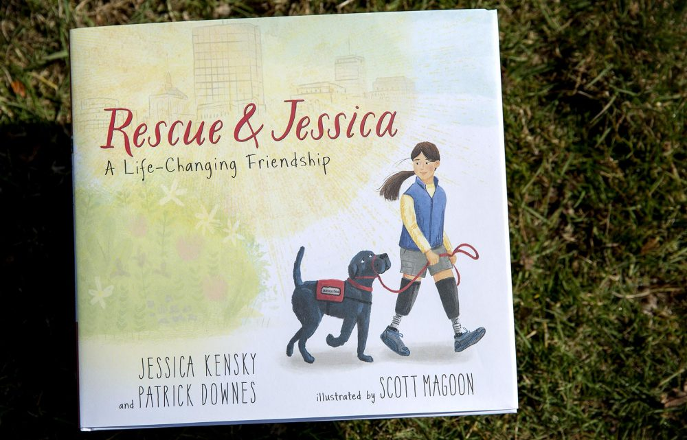 """Rescue & Jessica,"" by Jessica Kensky and Patrick Downes, illustrated by Scott Magoon. (Robin Lubbock/WBUR)"