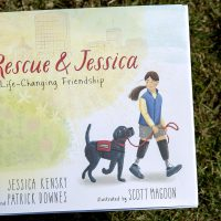 """""""Rescue & Jessica,"""" by Jessica Kensky and Patrick Downes, illustrated by Scott Magoon. (Robin Lubbock/WBUR)"""