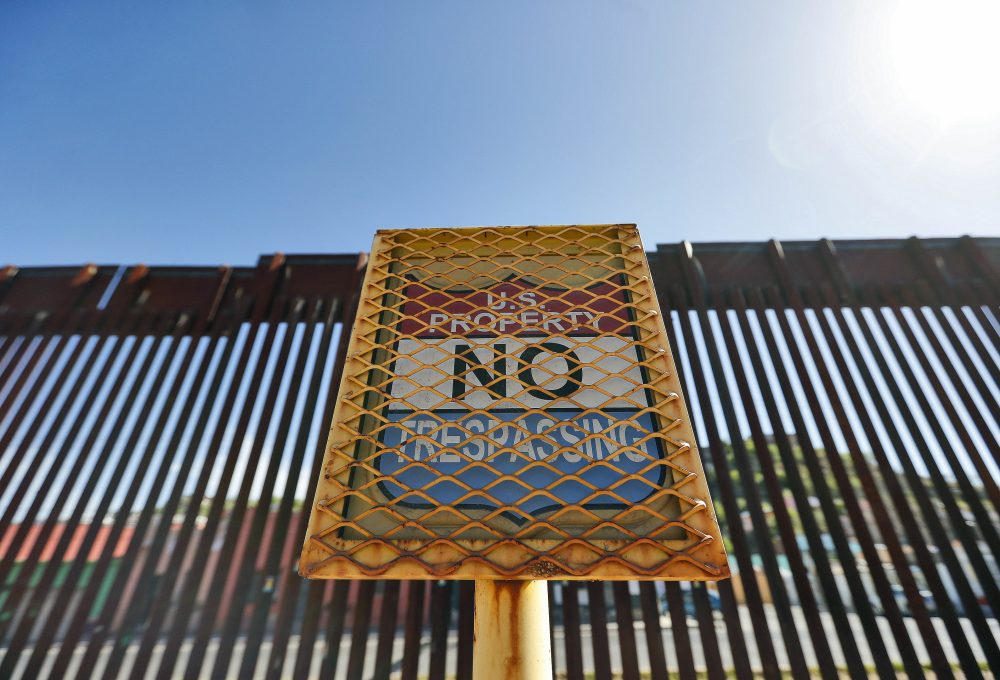 The international border cuts through Nogales, Sonora, Mexico, rear, and Nogales, Ariz., as seen Monday, April 9, 2018, from Nogales, Ariz. Arizona. Gov. Doug Ducey said 225 members of the state National Guard headed to the border with Mexico on Monday and more Guard members were deployed Tuesday to help the Border Patrol and other federal agencies that help secure the border. (Matt York/AP)