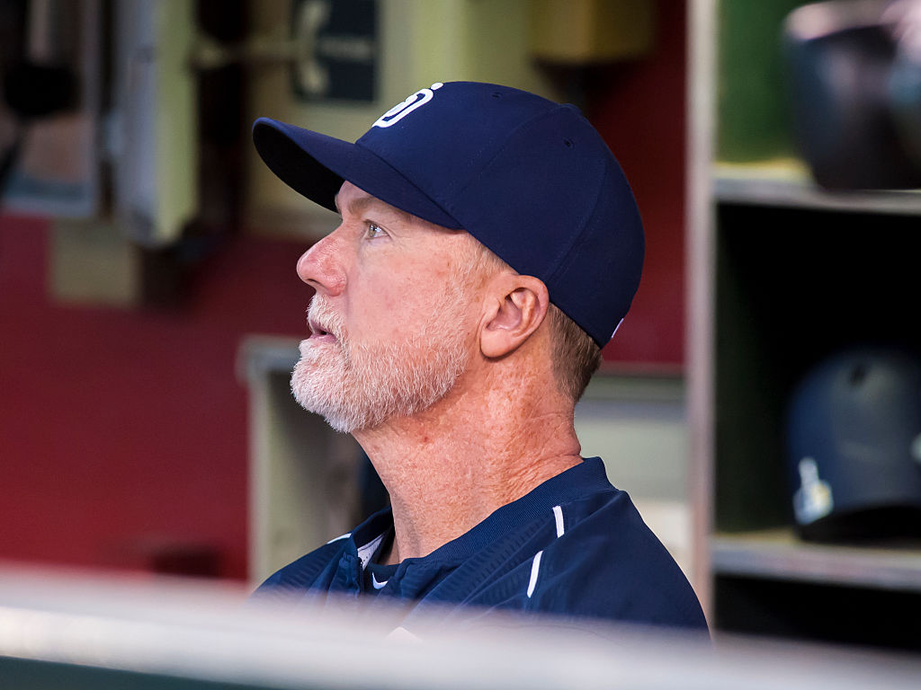 """""""For me, 'the thing' isn't whether or not Mark McGwire could have hit 70 home runs without chemical help,"""" Bill Littlefield writes. (Darin Wallentine/Getty Images)"""
